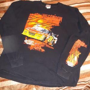 Jeff Gordon nascar chase authentic long sleeve t